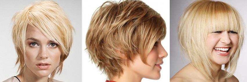Градуированный боб с челкой на средние волосы фото