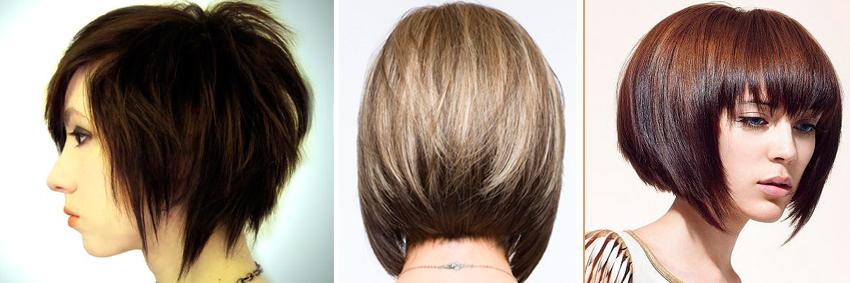 Каре-боб с челкой на короткие волосы