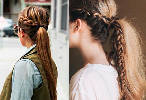 коса с плетением