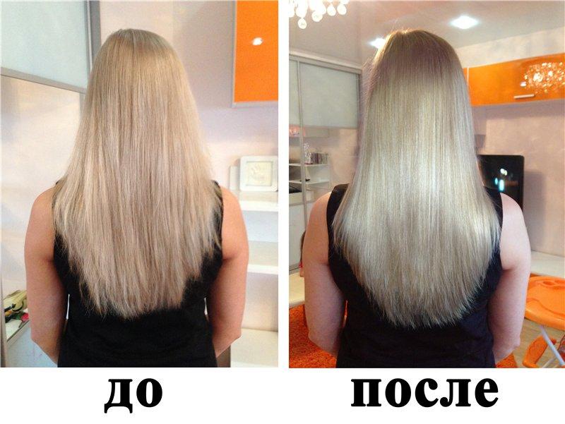волосы после процедуры