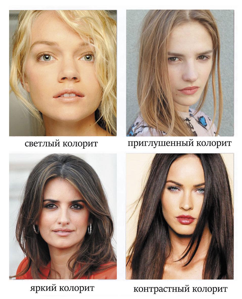 какой цвет волос подходит кавказскому типу лица