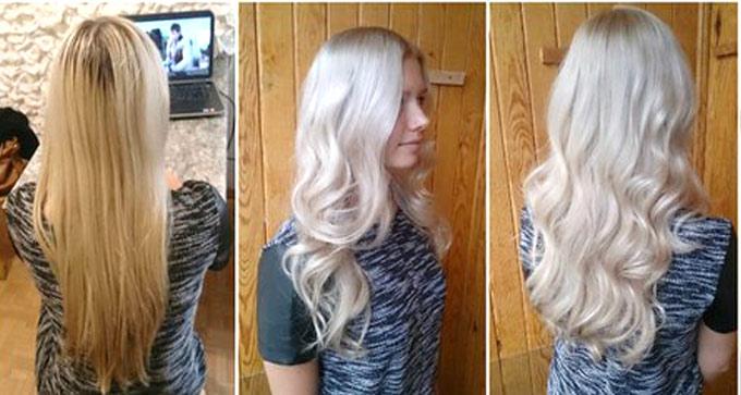 тонирование волос после мелирования фото до и после