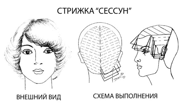 Схема стрижки кончиков