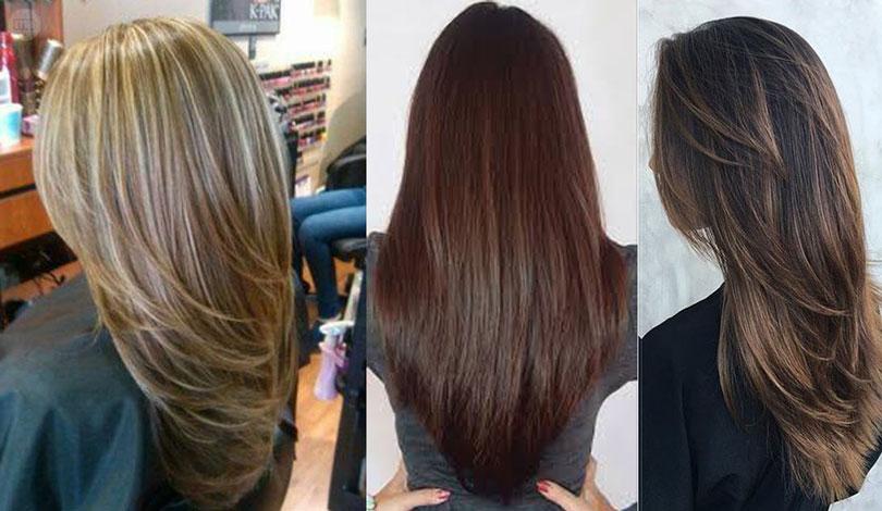 Обаятельная стрижка лесенка на длинные волосы (фото)