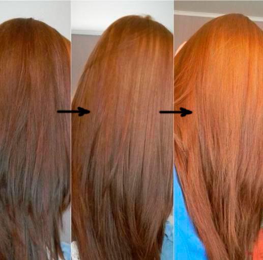 цвет волос после хны фото