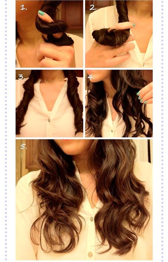 Как сделать красивые локоны на средние волосы