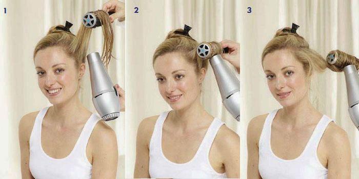 Как феном накрутить волосы