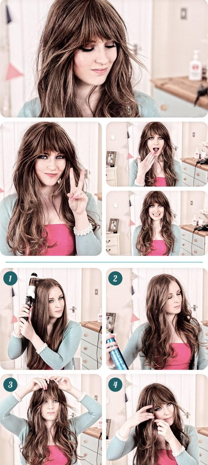 Как уложить волосы средней длины в 60