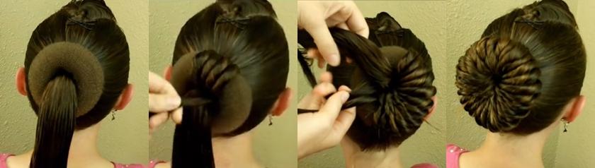 Красивый пучок из волос