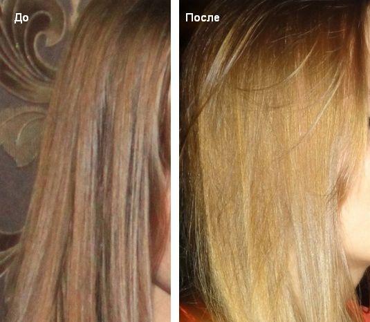 Лимонный сок для волос осветление