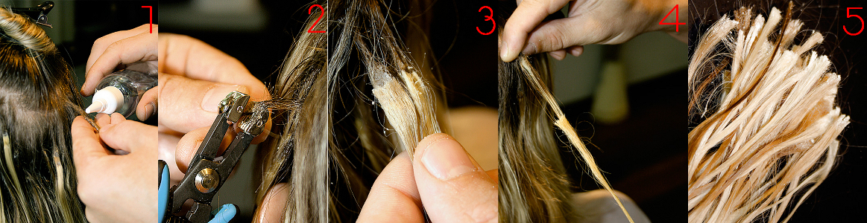 Снять клей с волос