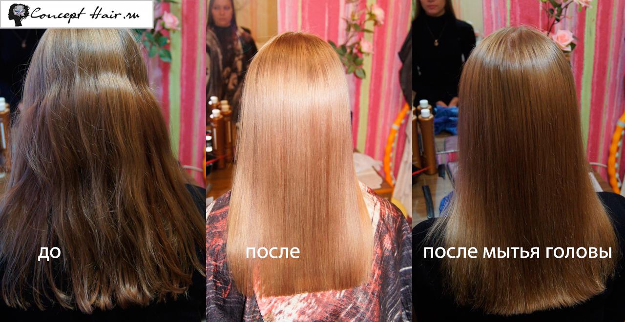 кератиновое выпрямление при выпадении волос