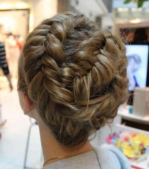 коса вокруг головы - вариант №1