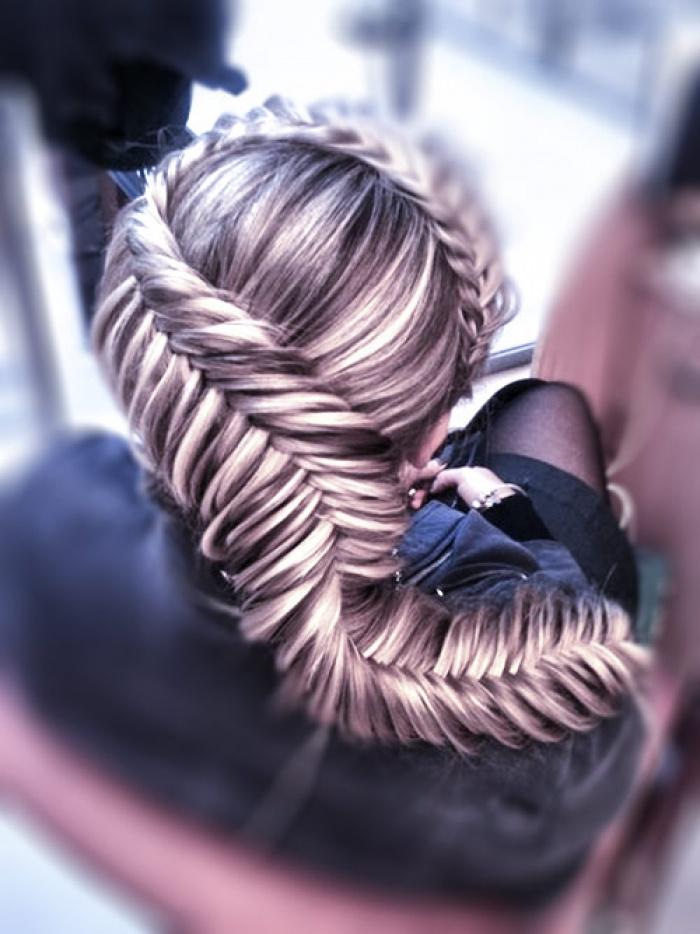 коса вокруг головы - вариант №2