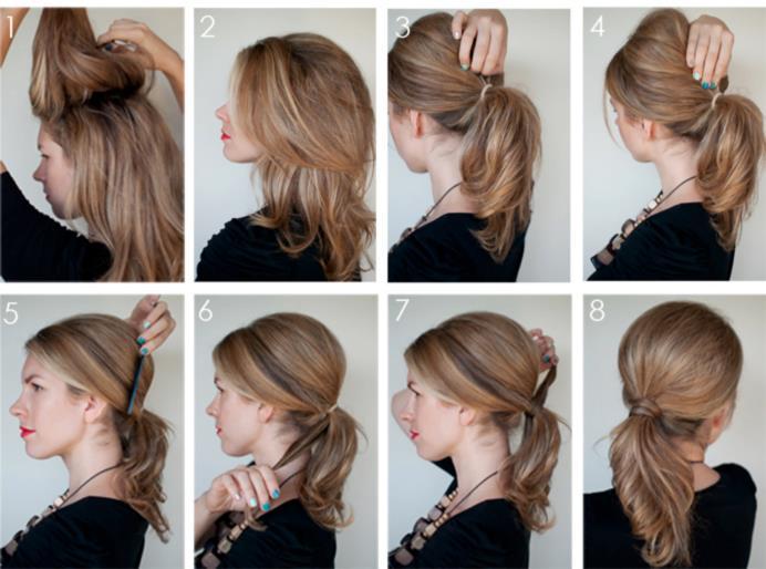 Как сделать объем на макушке на длинных волосах