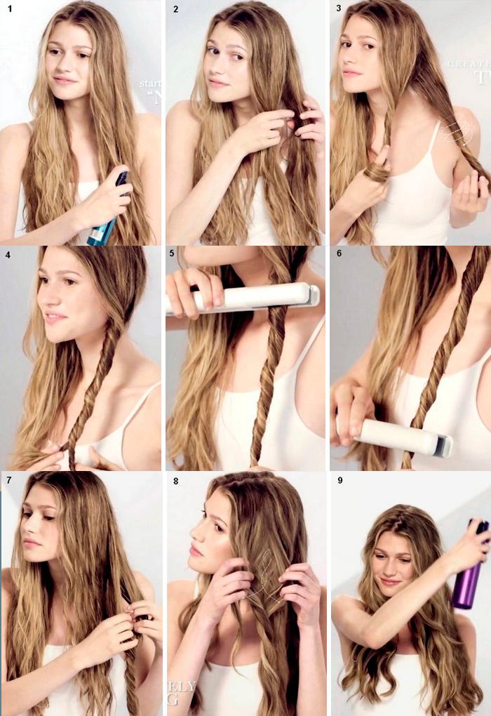 Как выпрямителем закручивать волосы