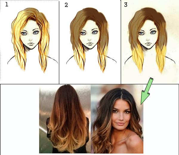 Как перекрасить тёмные волосы в более светлый оттенок? 43
